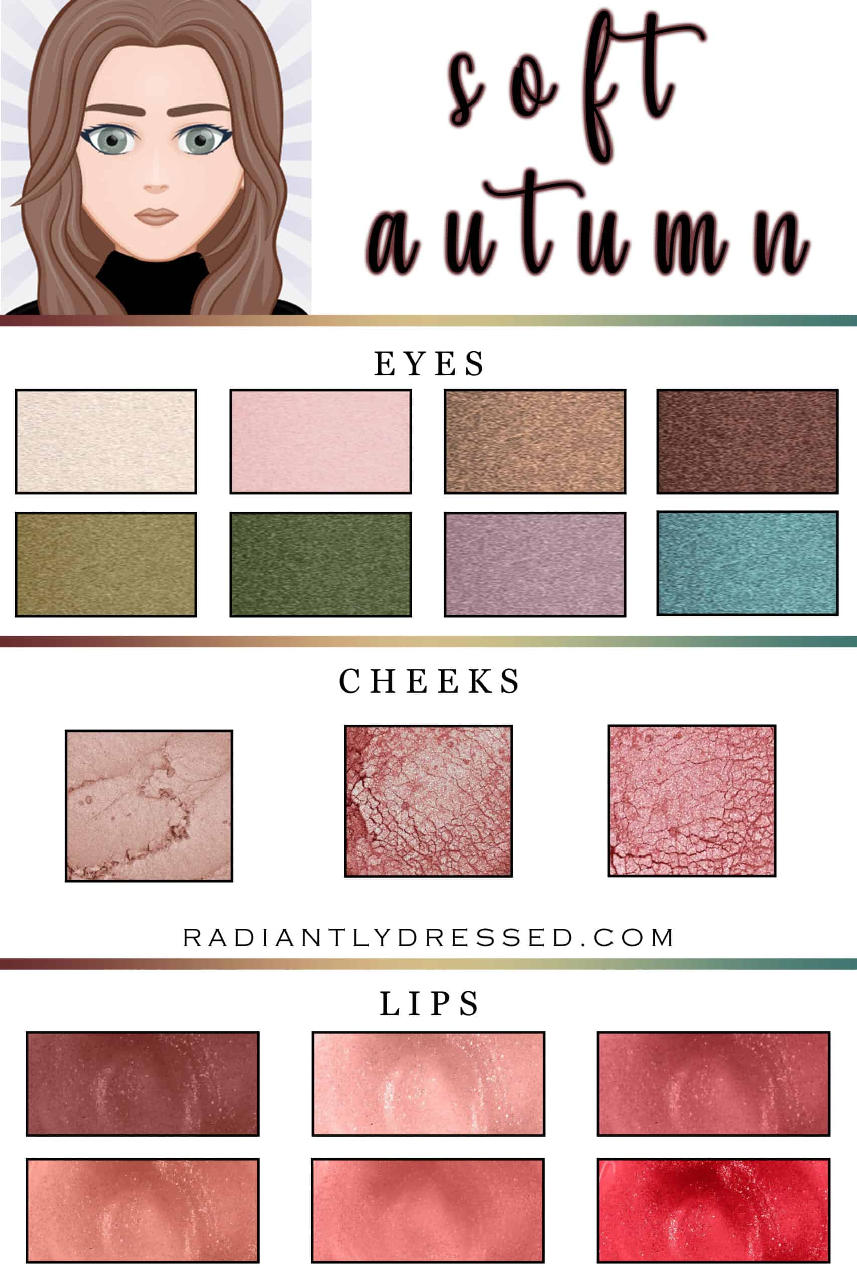 The best makeup for soft autumn.