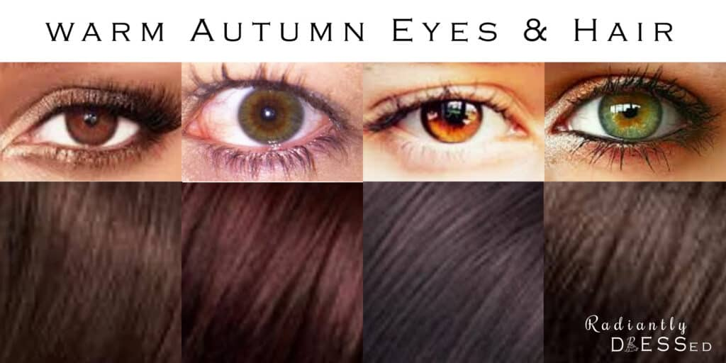 Warm Autumn Hair and Eye Examples
