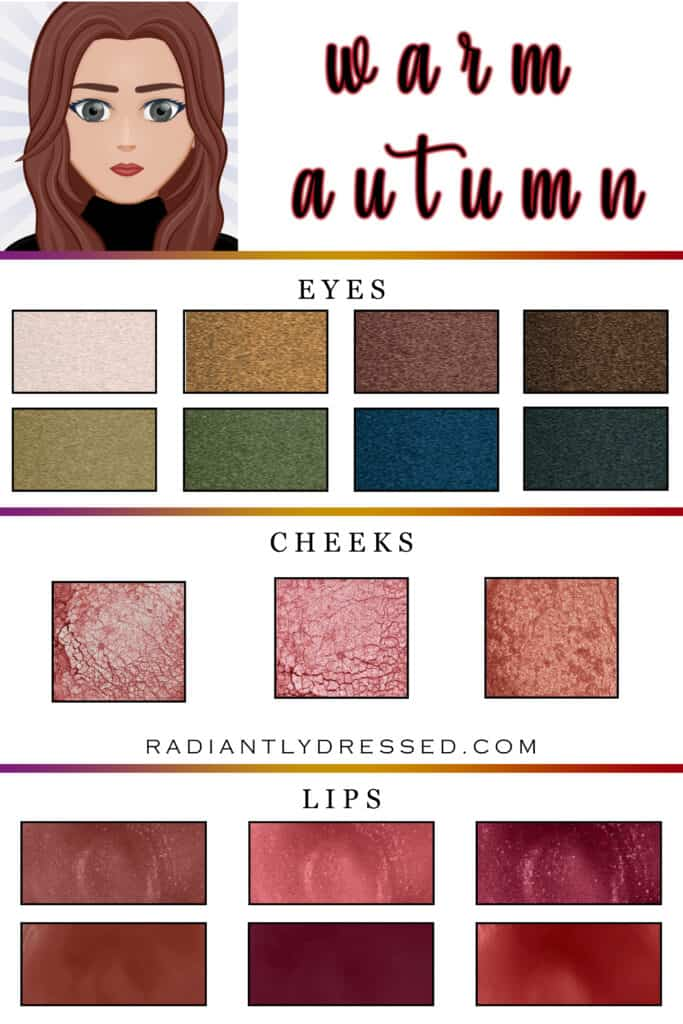 Makeup options for the warm autumn woman