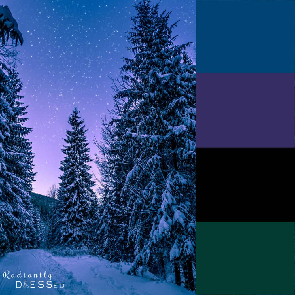 Nighttime winter colors.