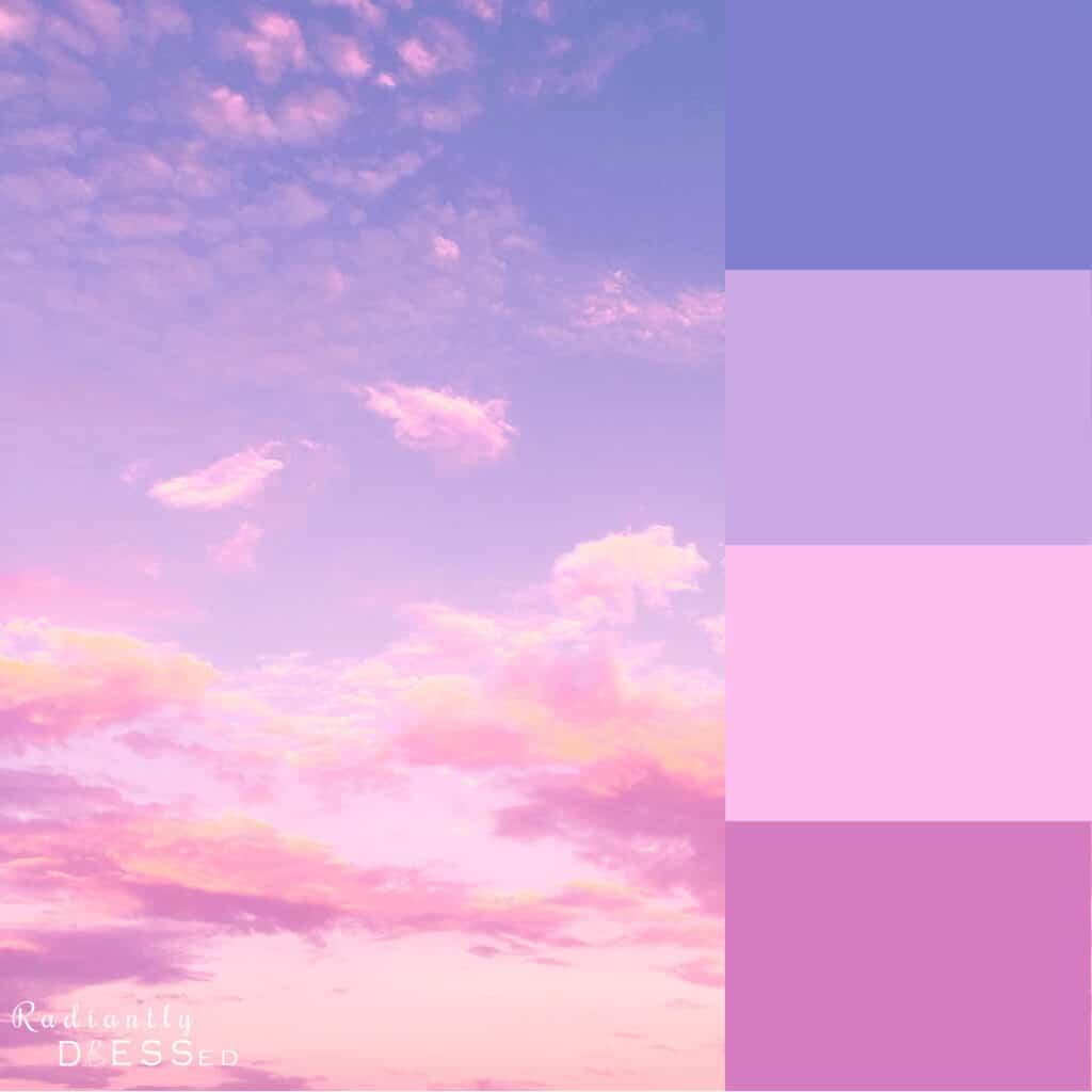 Pink Sunset Colors