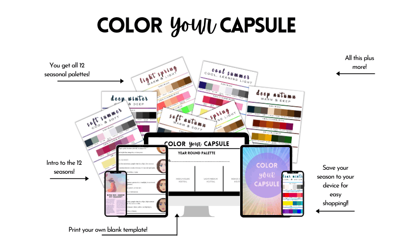 Color Your Capsule free palette ebook.