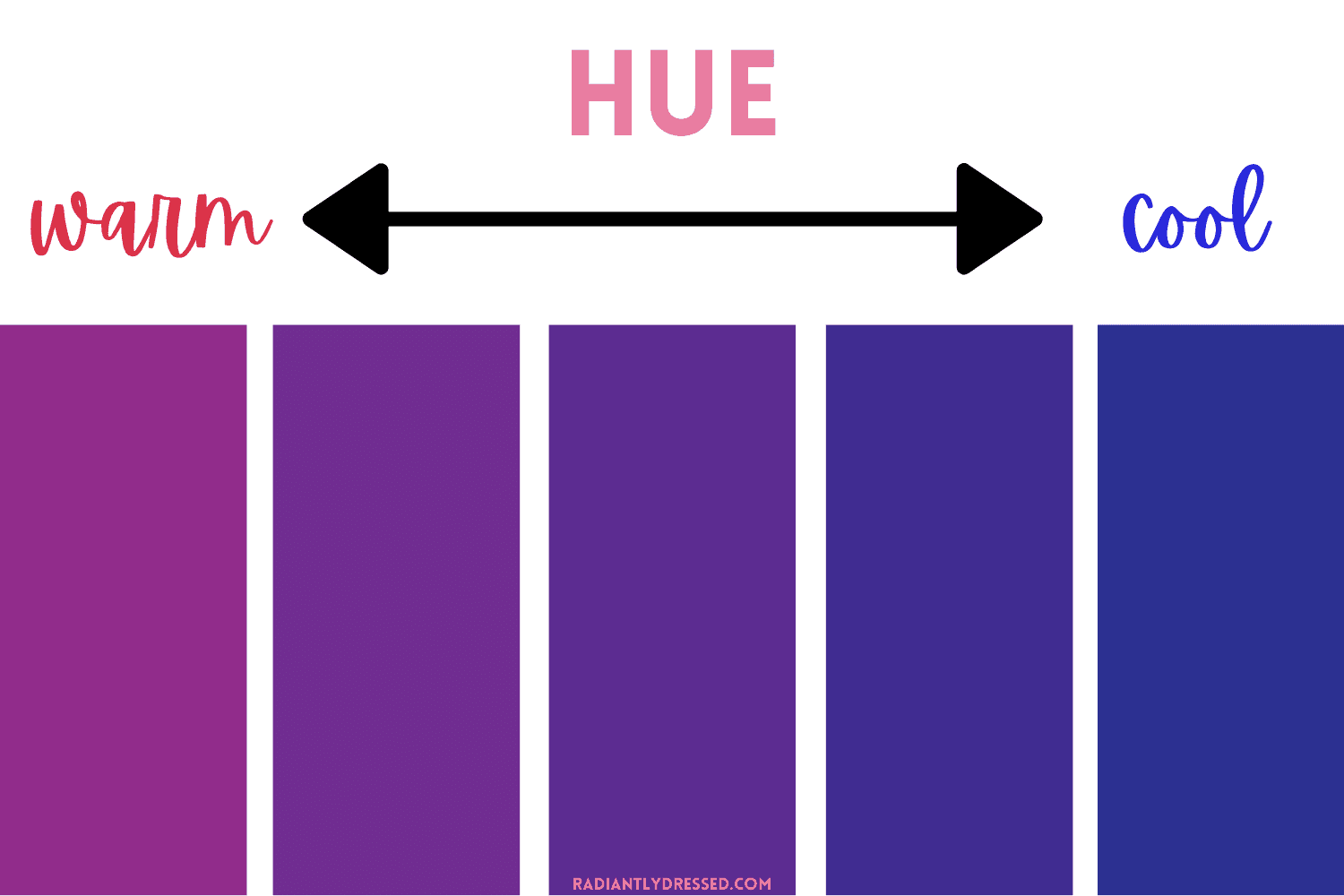 color theory hue warm cool