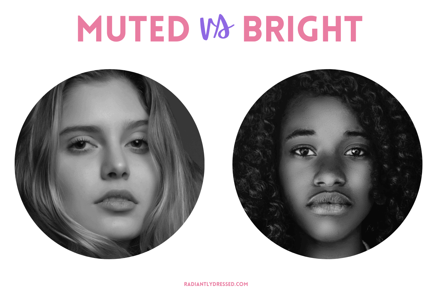 color analysis bright vs muted