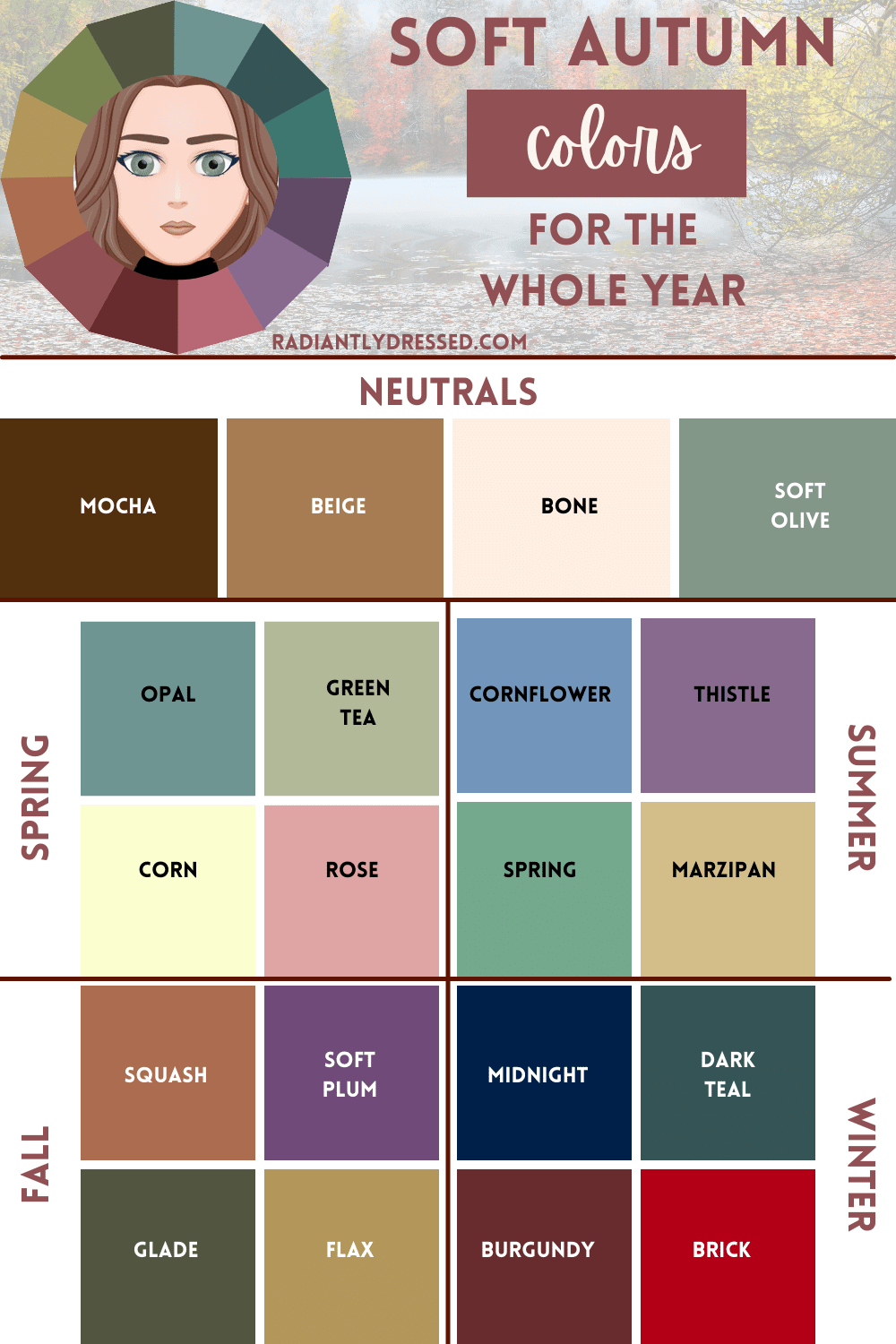 soft autumn year round color options