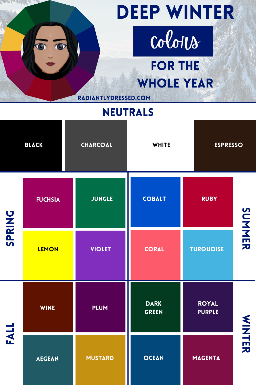 Year Round Colors for Deep Winter