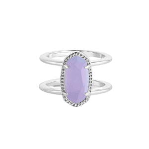 Elyse Ring in Lilac Glass