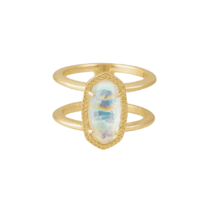 Elyse Ring in Iridescent Abalone