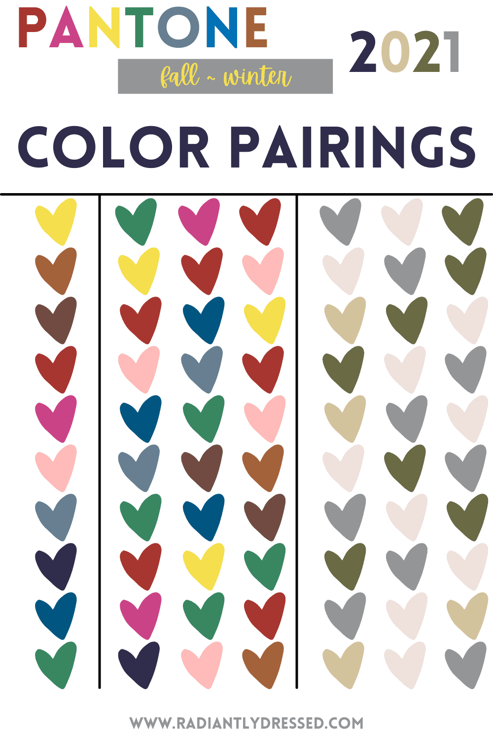 Pantone colors paired with each other.