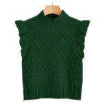 green ruffle vest from Shein