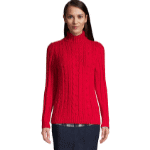 Lands End Red Cable Knit Sweater