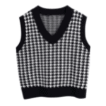 houndstooth vest from Amazon