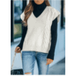 cable knit vest from Amazon
